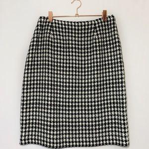Houndstooth Pencil Skirt Vintage Rena Rowen Size 8